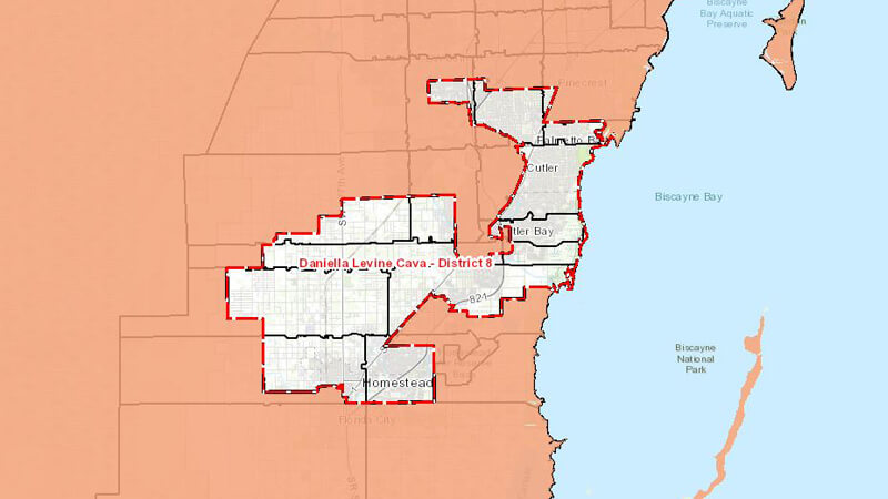 Map of District 8 Boundaries
