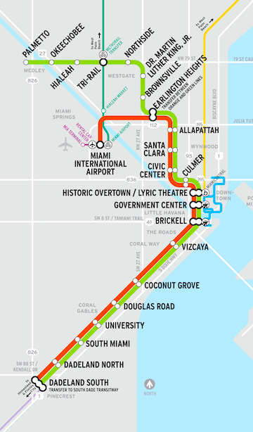 Subway Map Holiday.Metrorail Stations Miami Dade County