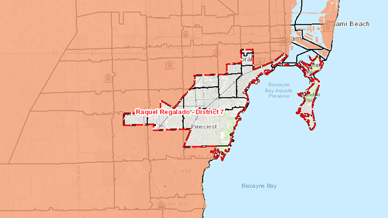 Map of District 7 Boundaries
